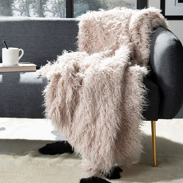 Mongolian sheepkin blanket bring luxury into any room
