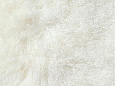 Mongolian Sheepskin Cushions color swatch Natural white