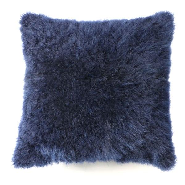 Cashmere Hide pillow dark blue