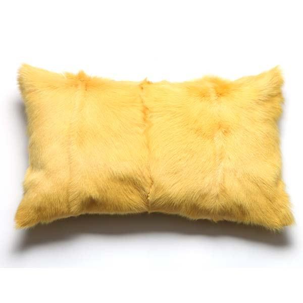 Goatskin cushion canary
