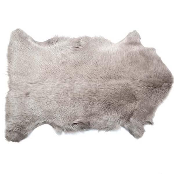 Goat Skin Hide natural grey
