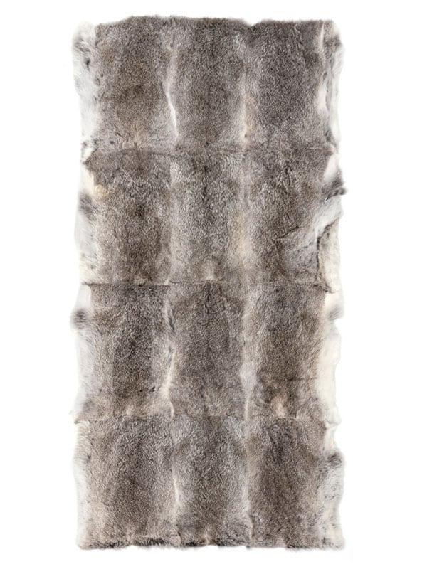 Rabbit Fur Plate natural grey