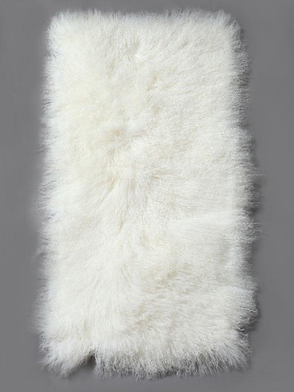 Mongolian Fur Plate white