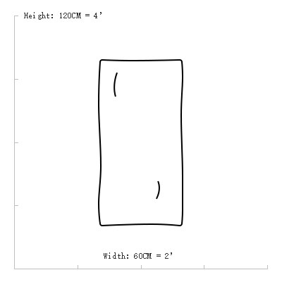 Rabbit Fur Plate size 60X120CM