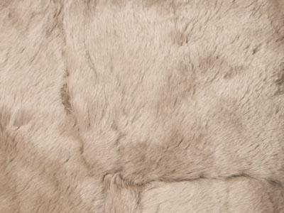 rabbit fur throw color swatch wheat