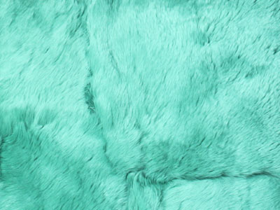 Rabbit Fur Plate color swatch green