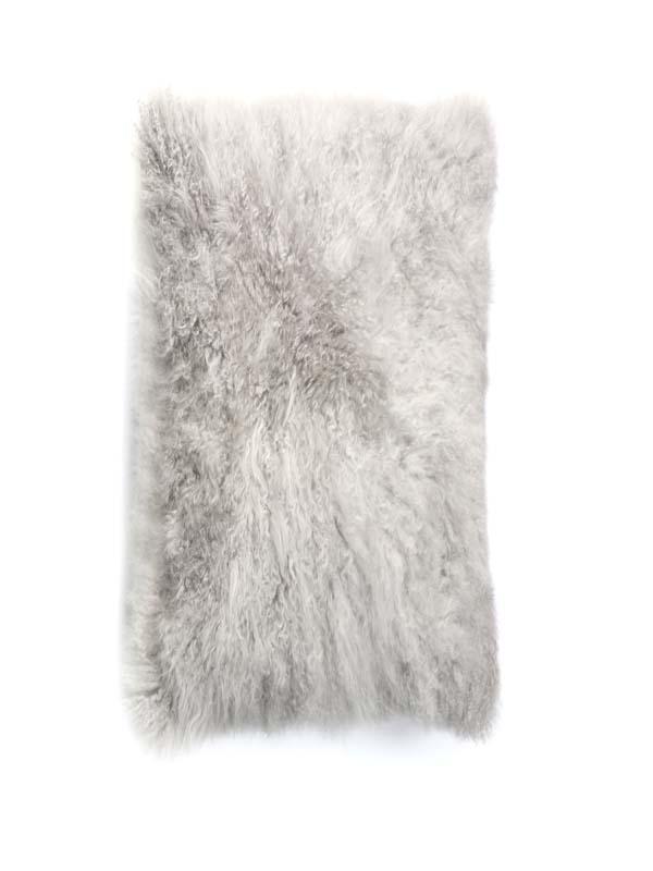 Cashmere Goat Skin plate silver