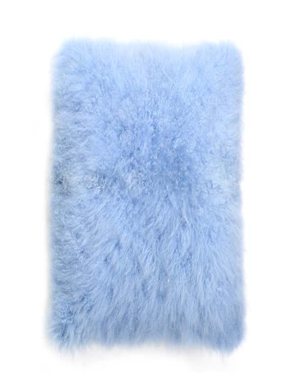 Cashmere Goat Skin plate blue