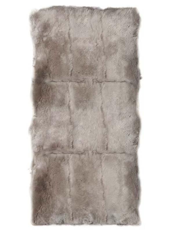 Rex Rabbit Fur Plate silver