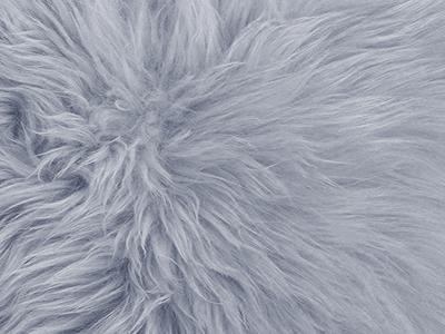 Australian Sheepskin pillow cover color swatch grey